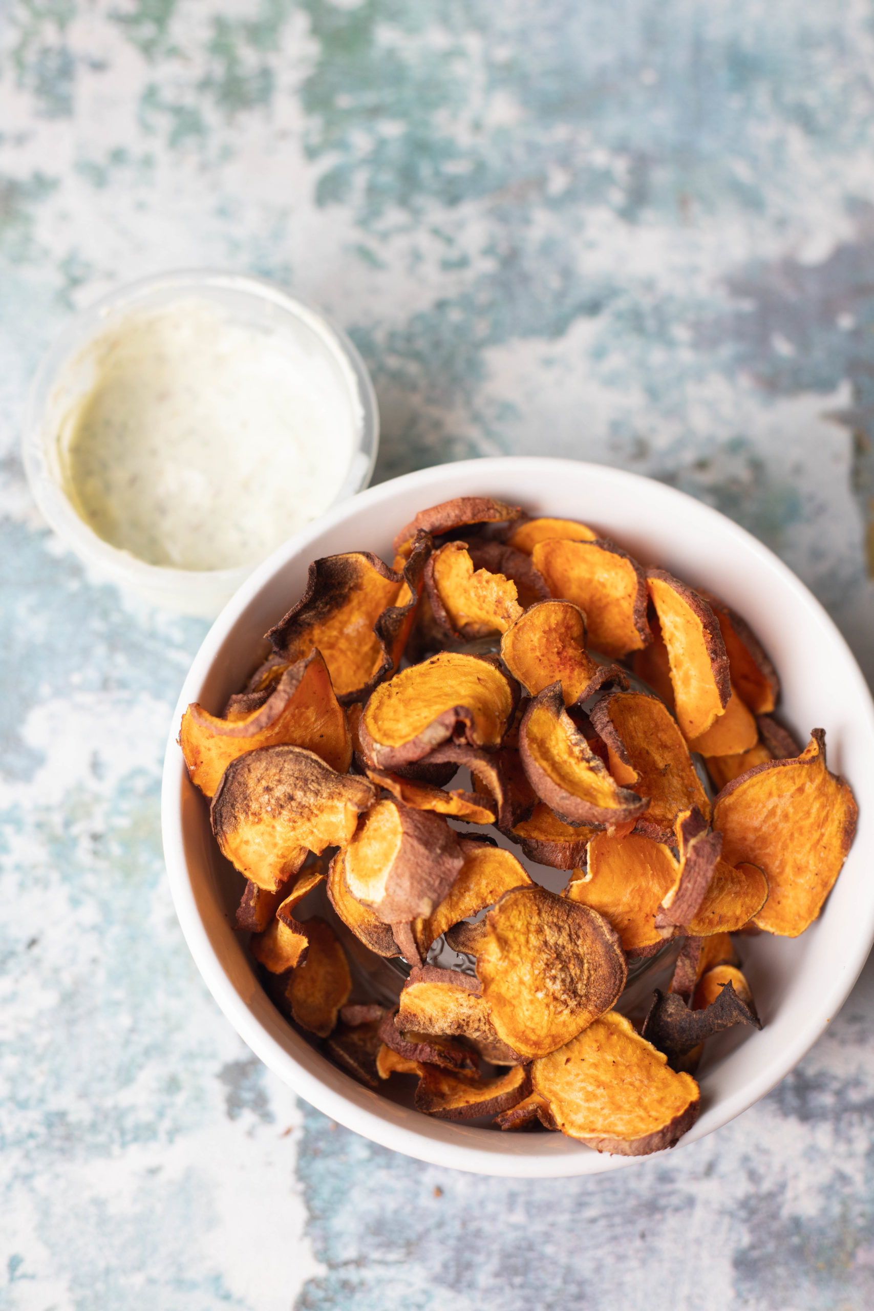 Healthy Crispy Baked Sweet Potato Chips Fat Rainbow