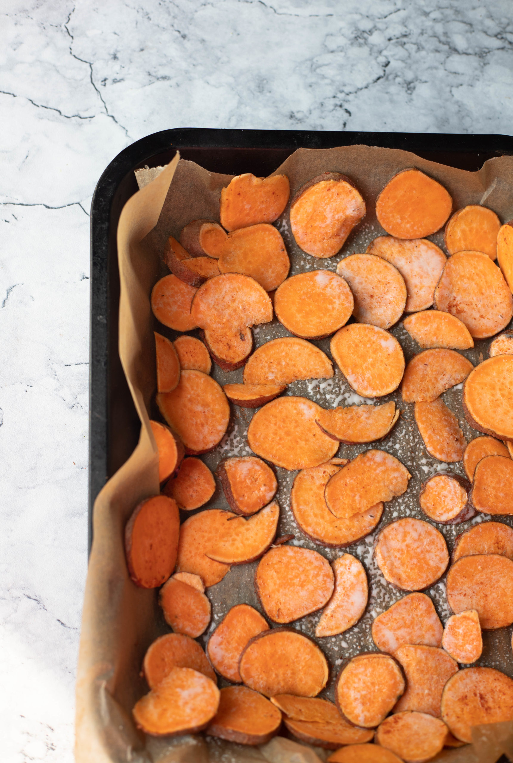 ready to bake sweet potato chips