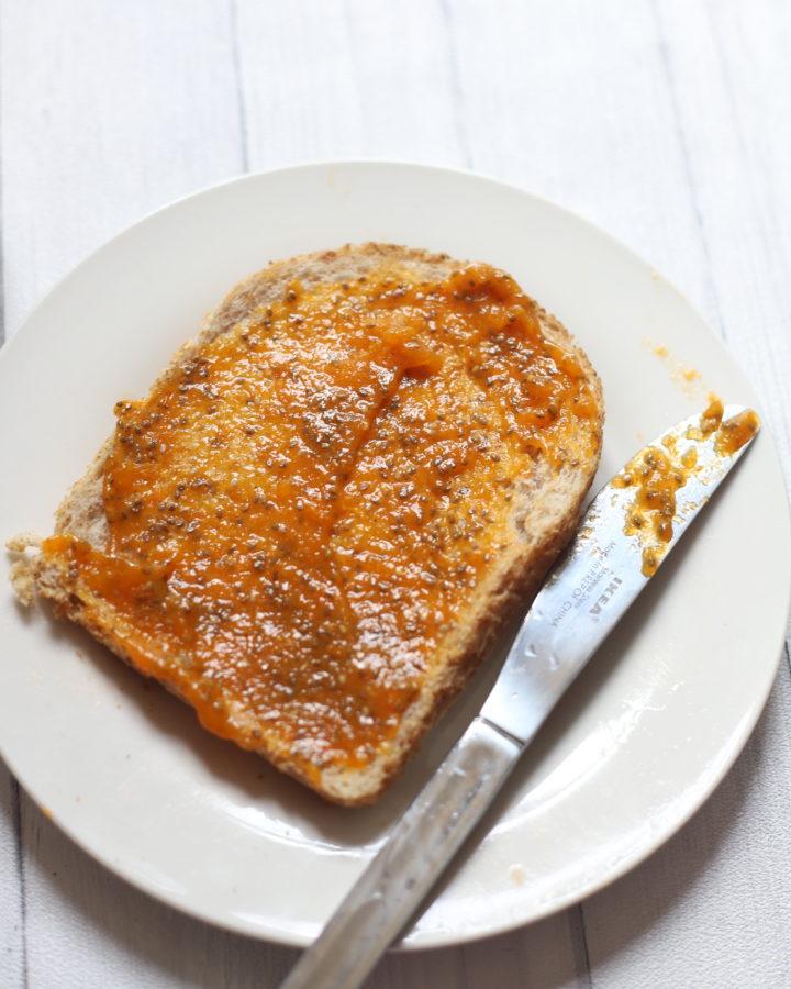 Apricot Chia jam Toast