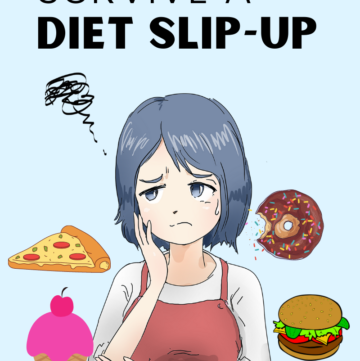 image of a girl worried with diet slip-up