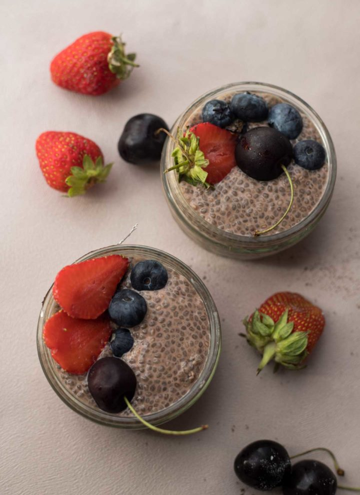 Vegan Chocolate Chia Seed Pudding 1