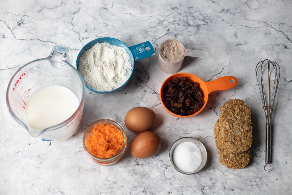 Ingredients for weetabix carrot cake