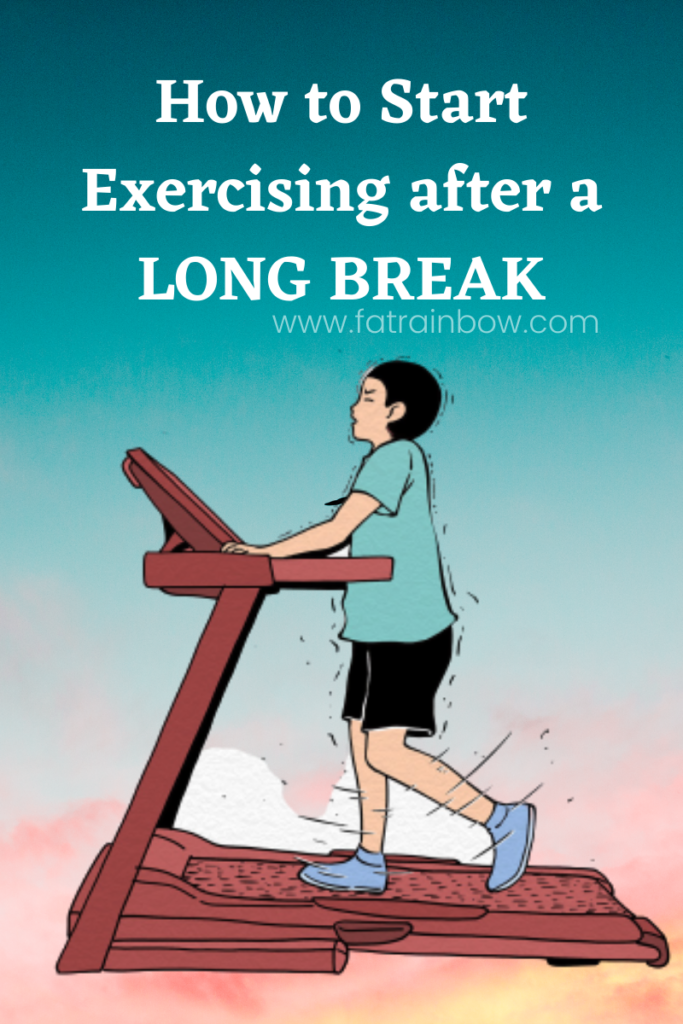 start exercise after a long break - an image showing a lad running on treadmill