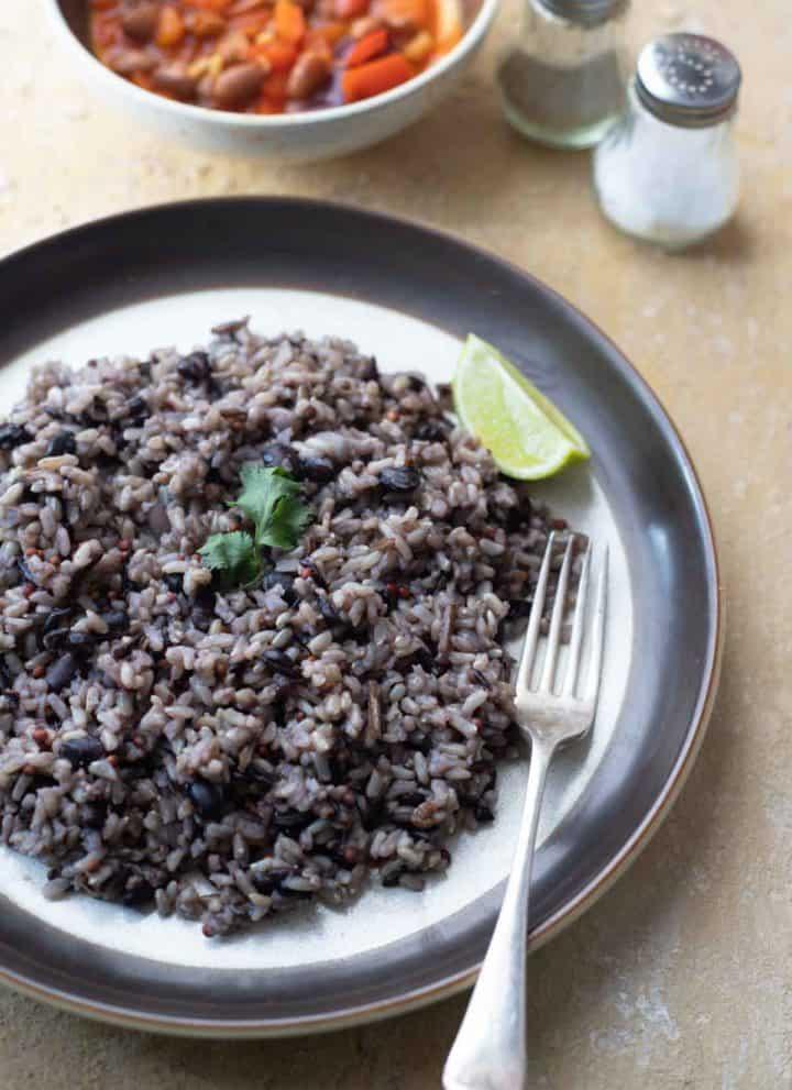 Instant Pot Black Bean Rice 1
