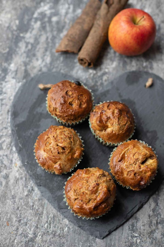 weetabix apple muffins ,cinamon stick and apple