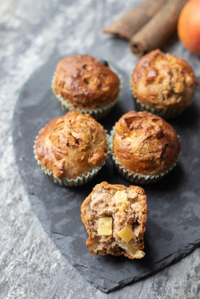 weetabix apple muffins sliced into half
