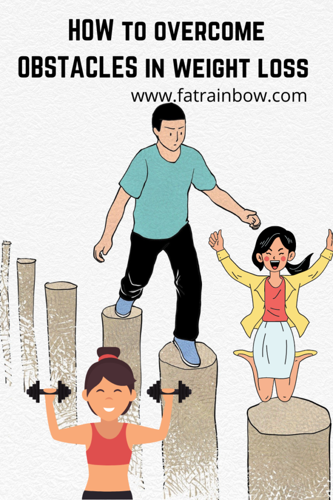decorative image showcasing obstacles to losing weight