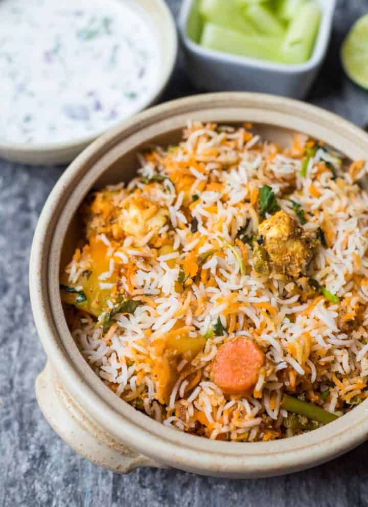 hyderabadi vegetable dum biryani 8